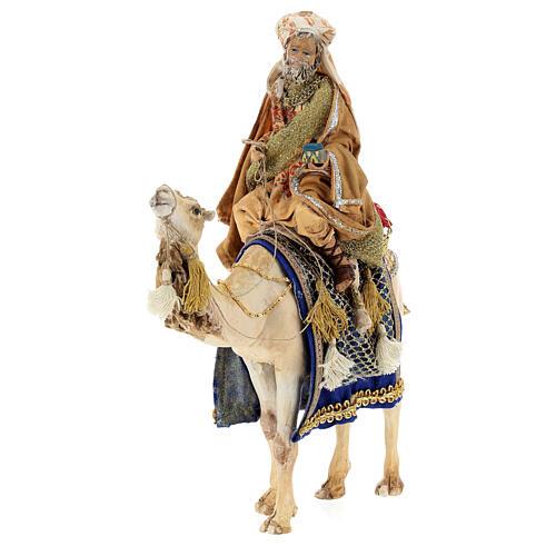 White Wise Man on camel, 13cm by Angela Tripi 3