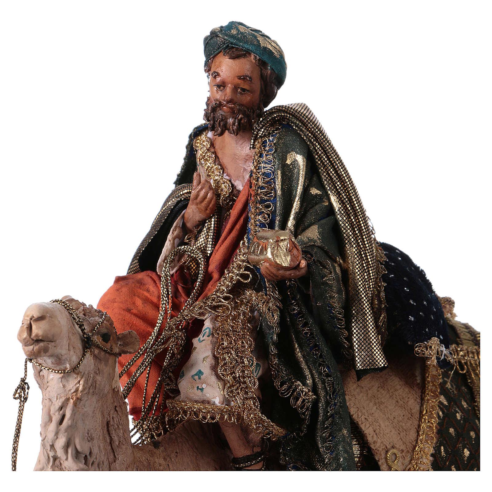 Roi Mage sur chameau 13cm Angela Tripi 4