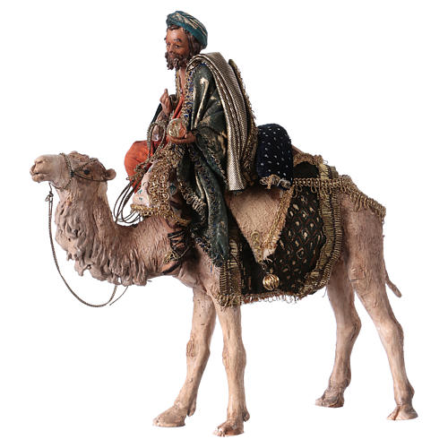 Roi Mage sur chameau 13cm Angela Tripi 1