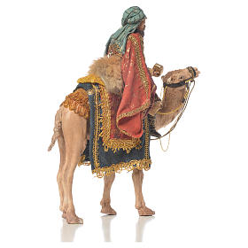 White Wise Man on camel, 13cm by Angela Tripi s4