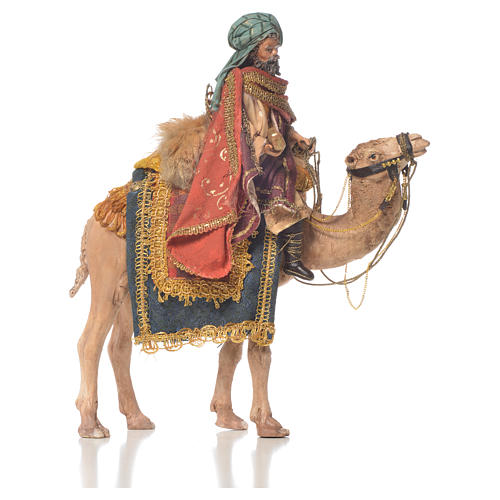 White Wise Man on camel, 13cm by Angela Tripi 1