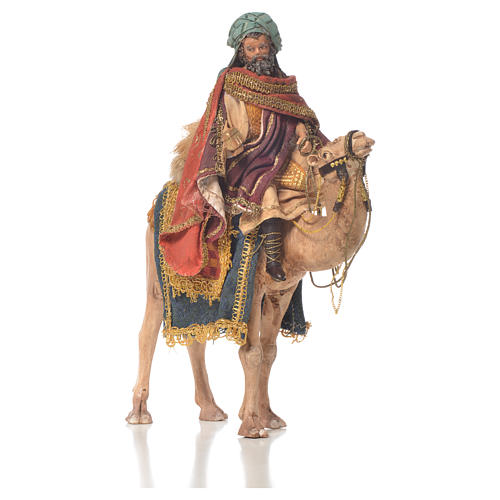 White Wise Man on camel, 13cm by Angela Tripi 2