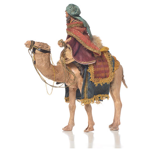 White Wise Man on camel, 13cm by Angela Tripi 3