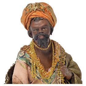 Black Wise Man in terracotta, 13cm by Angela Tripi s5