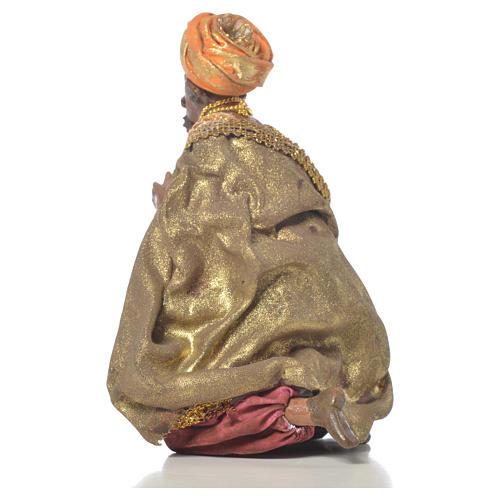 Black Wise Man in terracotta, 13cm by Angela Tripi 3