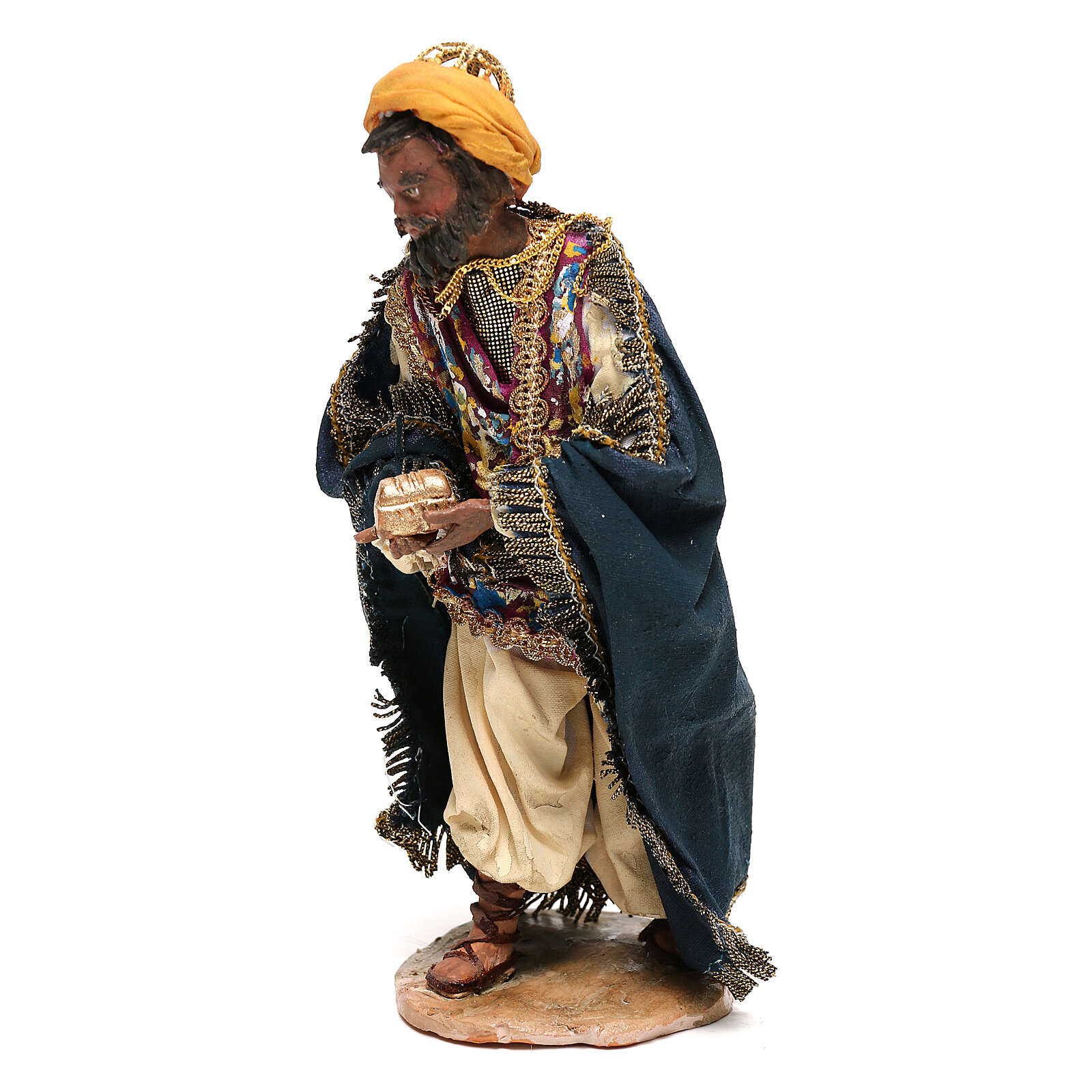 Mulatto Wise Man in terracotta, 13cm by Angela Tripi 4