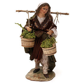 Woman with moss baskets, 13cm by Angela Tripi s1