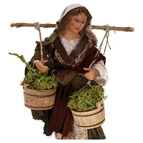 Woman with moss baskets, 13cm by Angela Tripi s2