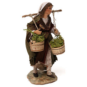 Woman with moss baskets, 13cm by Angela Tripi s4