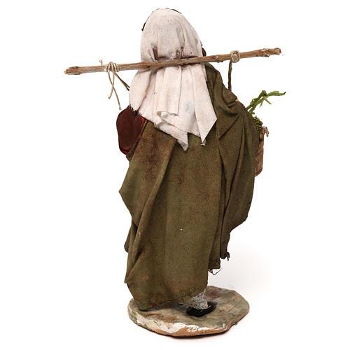 Woman with moss baskets, 13cm by Angela Tripi 5