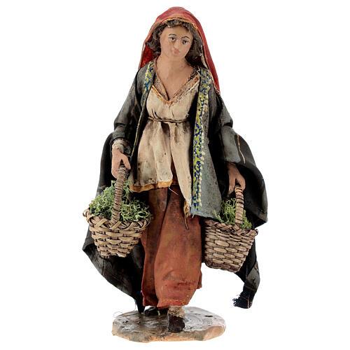 Woman with moss baskets, 13cm by Angela Tripi 1
