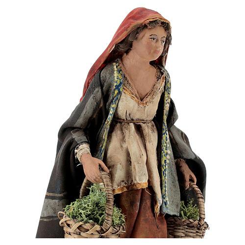 Woman with moss baskets, 13cm by Angela Tripi 2