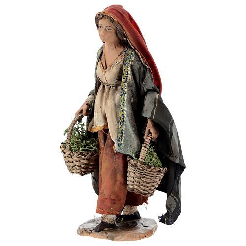 Woman with moss baskets, 13cm by Angela Tripi 3