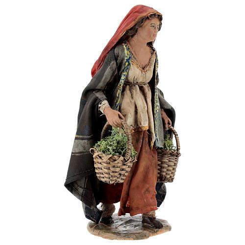 Woman with moss baskets, 13cm by Angela Tripi 4