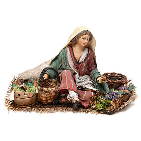 Vendeuse de raisins et céréales 13cm Angela Tripi s1