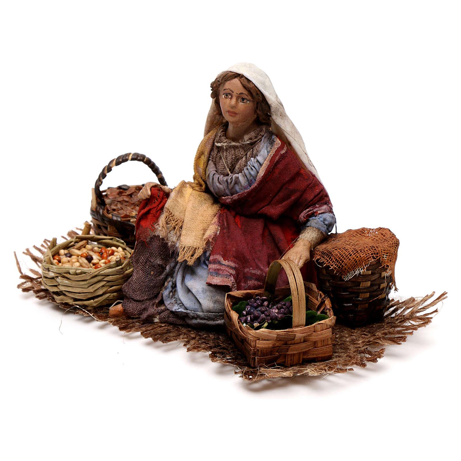 Venditrice uva e cereali 13 cm Angela Tripi 4