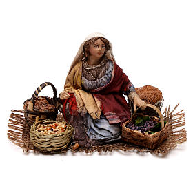 Venditrice uva e cereali 13 cm Angela Tripi s1