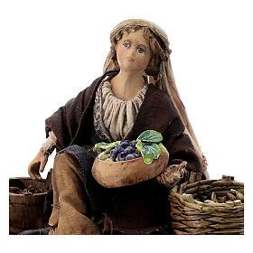 Venditrice uva e cereali 13 cm Angela Tripi s2