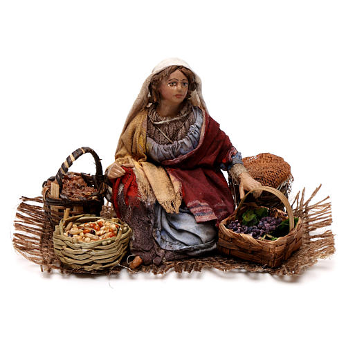 Venditrice uva e cereali 13 cm Angela Tripi 1