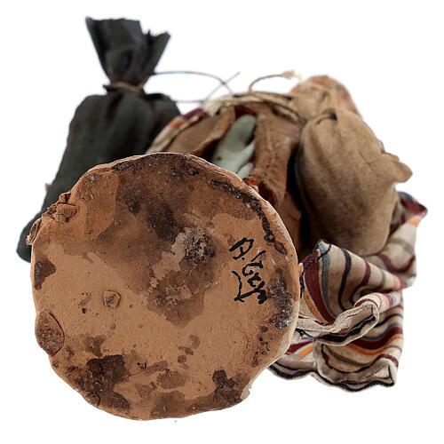 Pastore con sacchi 13 cm Angela Tripi 6