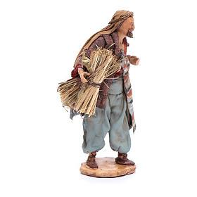 Uomo con fascine di paglia 13 cm Angela Tripi s4