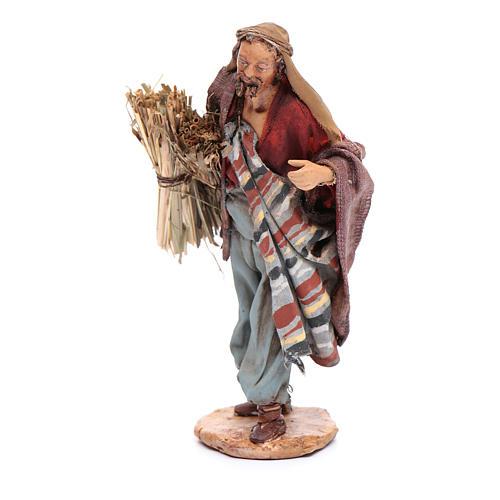 Uomo con fascine di paglia 13 cm Angela Tripi 2
