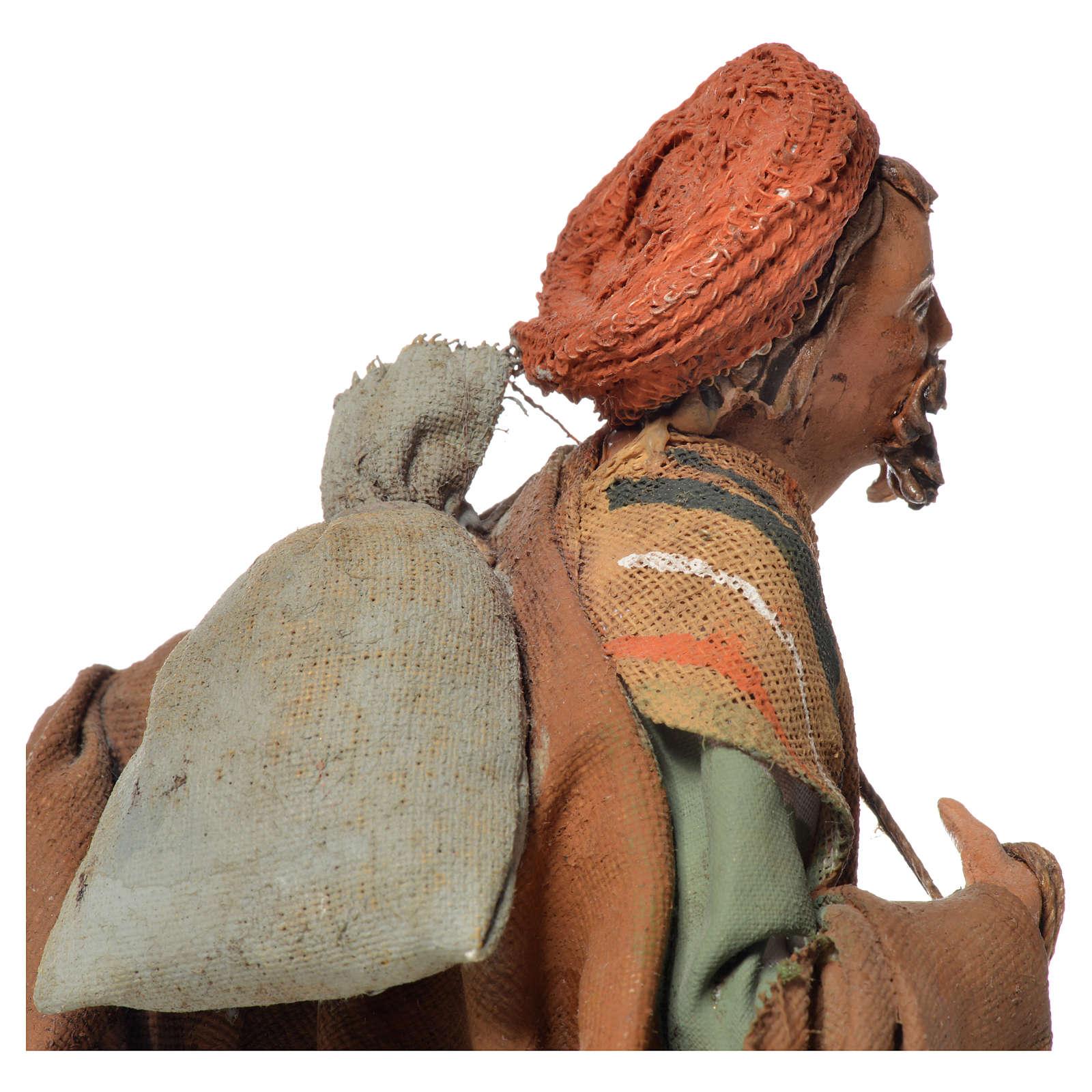 Shepherd with sack, 13cm nativity by Angela Tripi 4