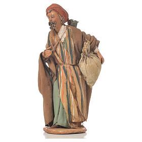 Shepherd with sack, 13cm nativity by Angela Tripi s1