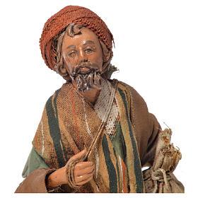 Shepherd with sack, 13cm nativity by Angela Tripi s5