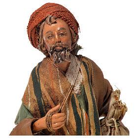 Shepherd with sack, 13cm nativity by Angela Tripi s2