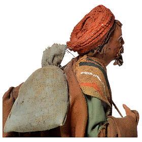 Shepherd with sack, 13cm nativity by Angela Tripi s4