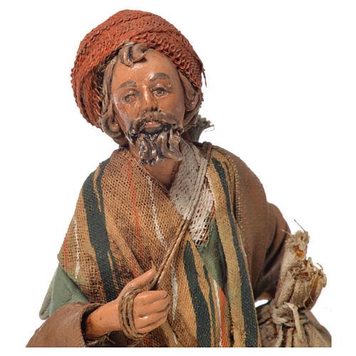 Shepherd with sack, 13cm nativity by Angela Tripi 5