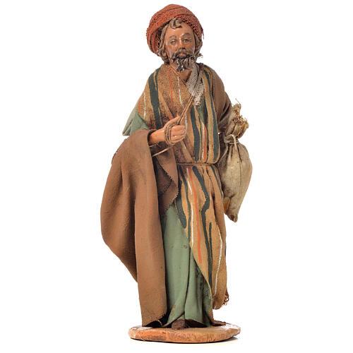 Shepherd with sack, 13cm nativity by Angela Tripi 1