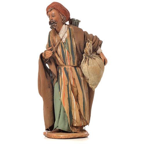 Shepherd with sack, 13cm nativity by Angela Tripi 3