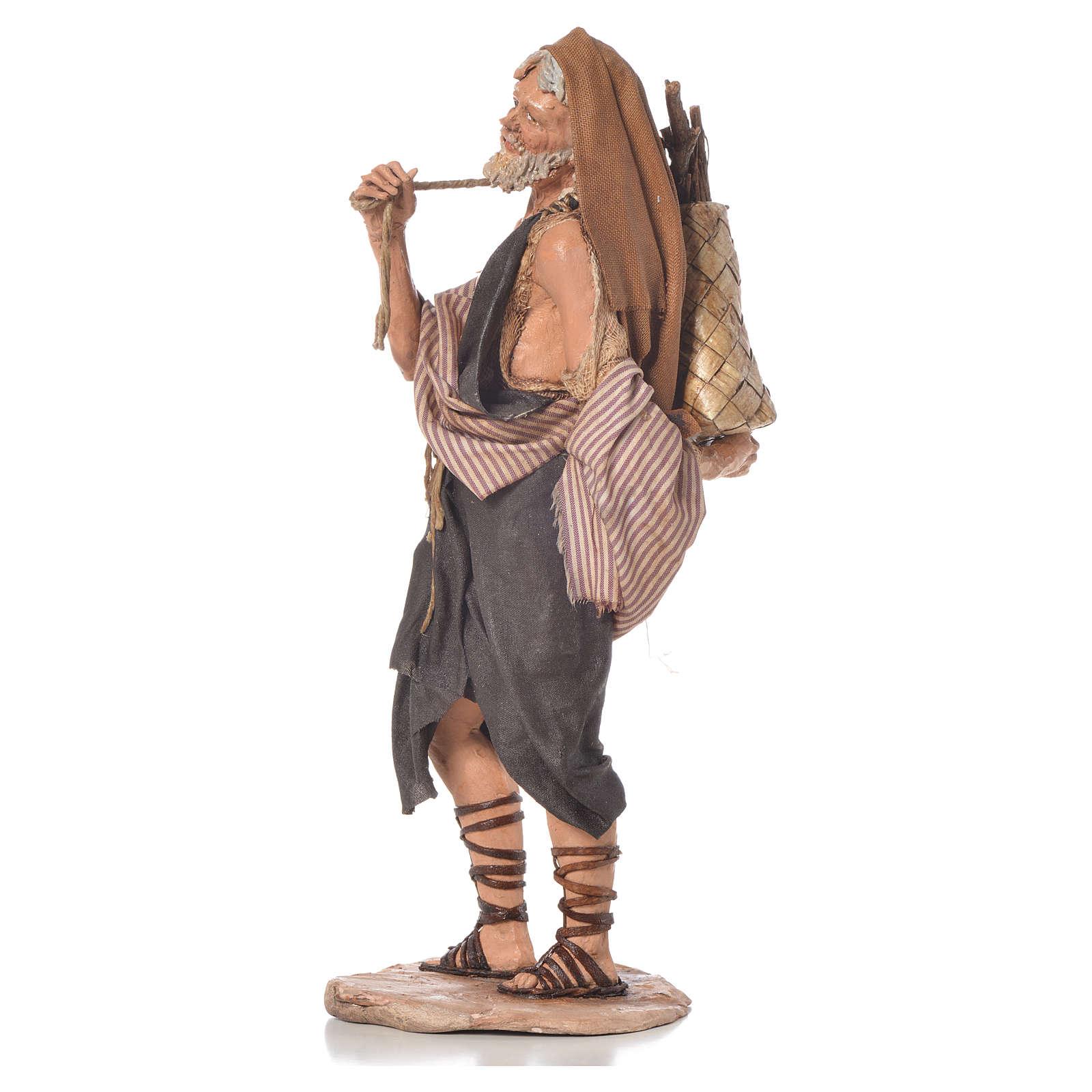Boscaiolo 18 cm presepe Angela Tripi 4