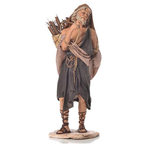 Boscaiolo 18 cm presepe Angela Tripi 3