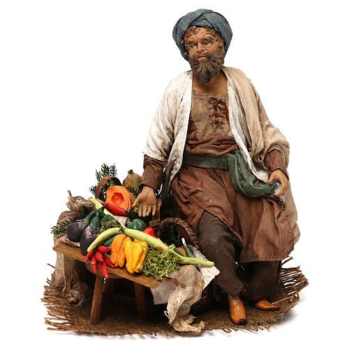 Homme aux légumes 18cm crèche Angela Tripi 1