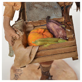 Pastore con ortaggi 18 cm presepe Angela Tripi s6