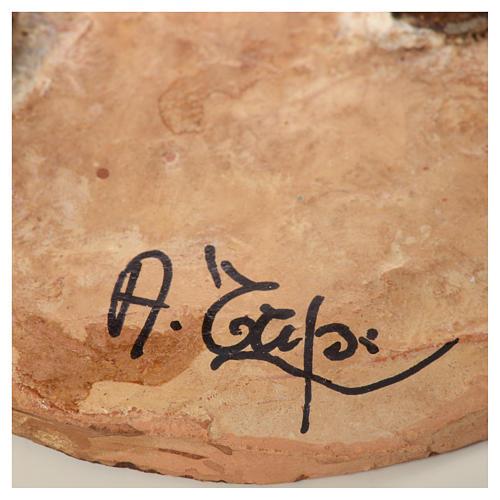 Pastore con ortaggi 18 cm presepe Angela Tripi 7
