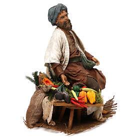 Camponês com legumes 18 cm presépio Angela Tripi s4