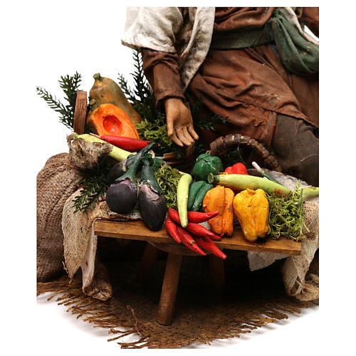 Camponês com legumes 18 cm presépio Angela Tripi 5