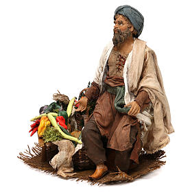Shepherd with vegetables 18cm by Angela Tripi s3