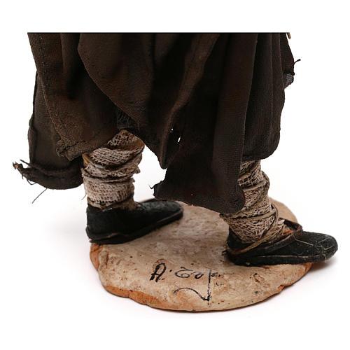 Pastore con paglia 18 cm presepe Angela Tripi 6