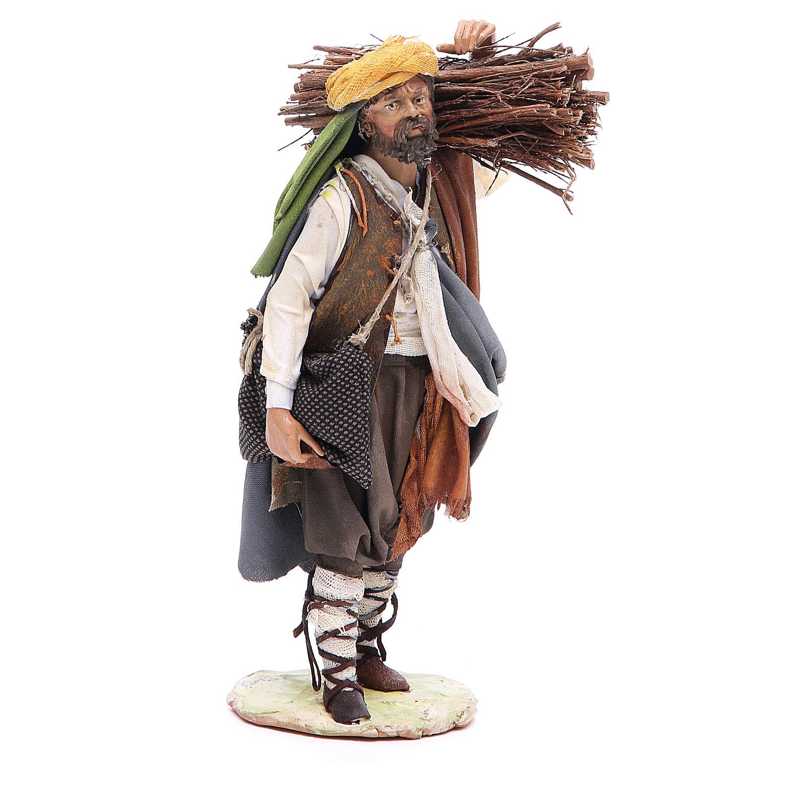 Pastore con legna 18 cm Angela Tripi 4
