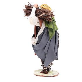 Pastore con legna 18 cm Angela Tripi s3