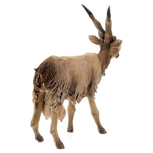 Cabra cabeza baja Belén 18 cm Angela Tripi terracota 5