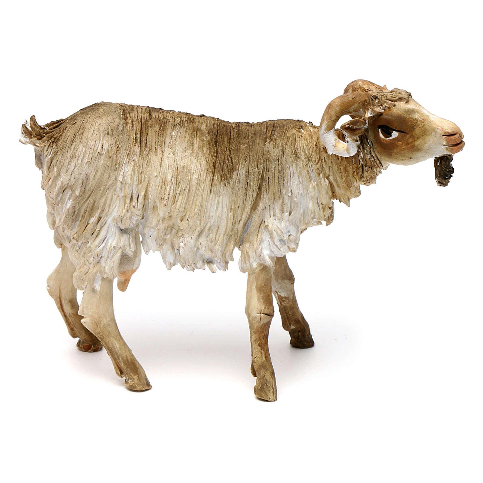 Chèvre broutant 18cm crèche Angela Tripi 4
