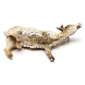 Chèvre broutant 18cm crèche Angela Tripi s5