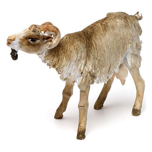 Chèvre broutant 18cm crèche Angela Tripi 2