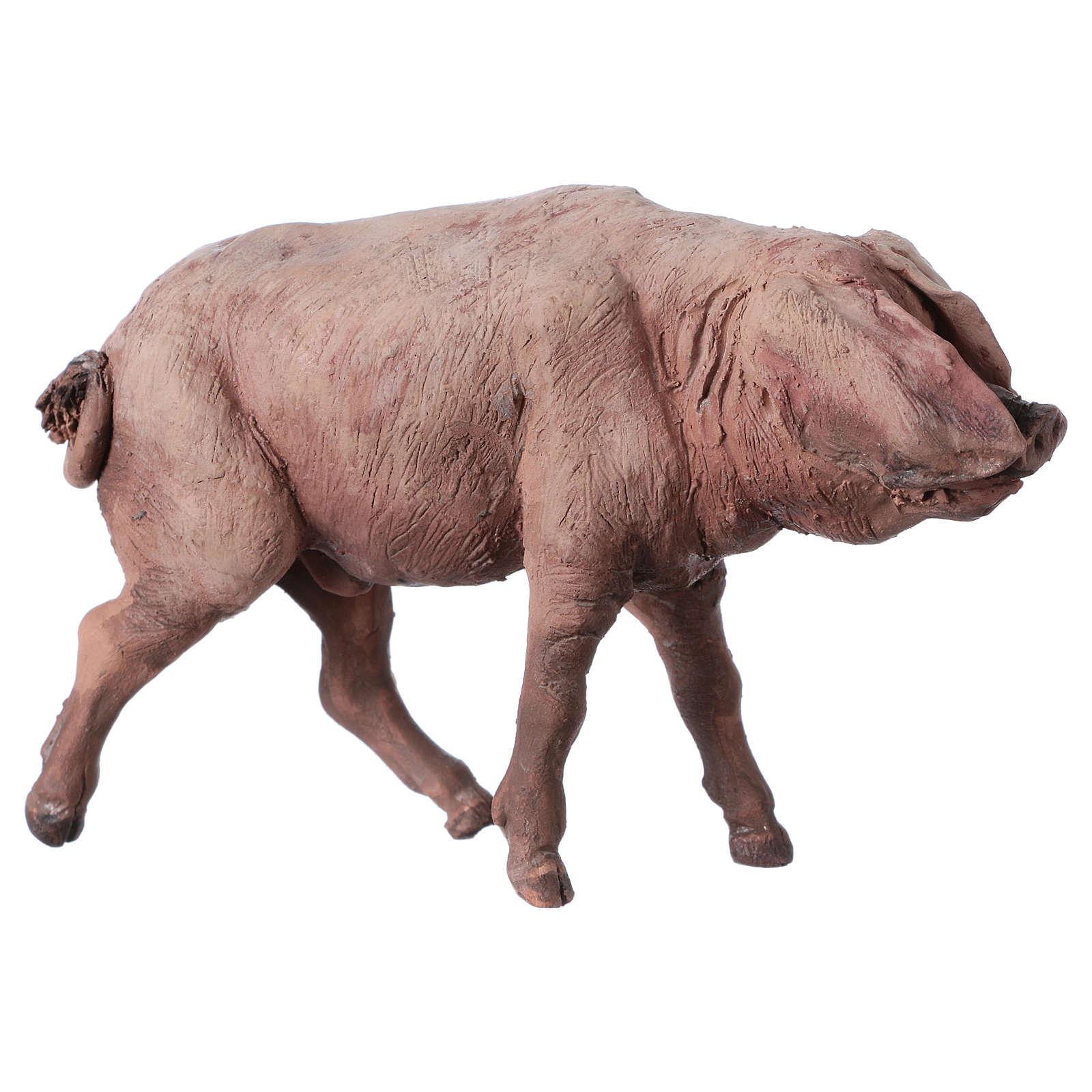 Pig in terracotta 18cm Angela Tripi 4